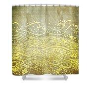 Water Pattern On Old Paper Shower Curtain by Setsiri Silapasuwanchai