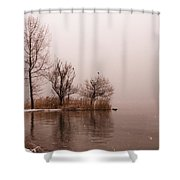 Wintertrees Shower Curtain by Joana Kruse