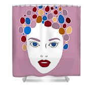 Woman In Fashion Shower Curtain by Frank Tschakert