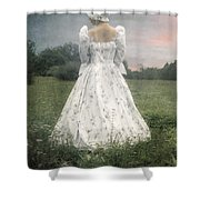 Woman With Bonnet Shower Curtain by Joana Kruse