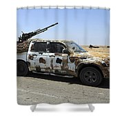 A Free Libyan Army Pickup Truck Shower Curtain by Andrew Chittock