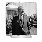 Jimmy Carter (1924- ) Shower Curtain by Granger