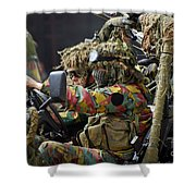 Members Of A Recce Or Scout Team Shower Curtain by Luc De Jaeger