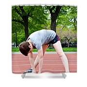 Stretching Exercises Shower Curtain by Photo Researchers