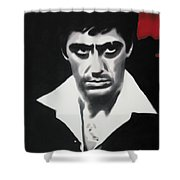 - Scarface - Shower Curtain by Luis Ludzska