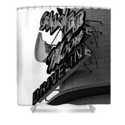 1940s Drive In Shower Curtain by David Lee Thompson