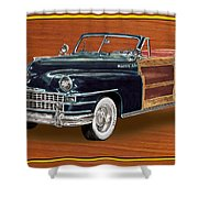 1948 Chrysler Town And Country Shower Curtain by Jack Pumphrey