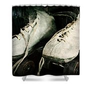 1950's Roller Skates Shower Curtain by Michelle Calkins