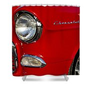 1955 Chevrolet 210 Headlight Shower Curtain by Jill Reger