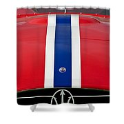 1956 Maserati 350 S Shower Curtain by Jill Reger