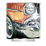 1957 Chevy Shower Curtain by Steve McKinzie