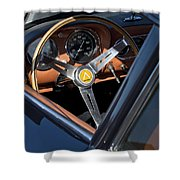 1963 Apollo Steering Wheel     Shower Curtain by Jill Reger
