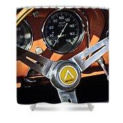 1963 Apollo Steering Wheel 2 Shower Curtain by Jill Reger