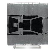 1972 Maserati Boomerang Shower Curtain by Naxart Studio