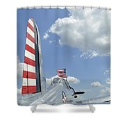 A Bt-13 Valiant Trainer Aircraft Shower Curtain by Stocktrek Images
