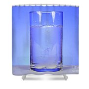 Alka-seltzer Dissolving In Water Shower Curtain by Photo Researchers, Inc.