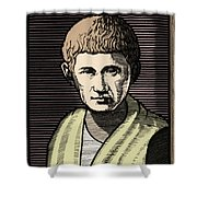 Aristotle, Ancient Greek Philosopher Shower Curtain by Science Source
