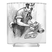 Bank Panic, 1873 Shower Curtain by Granger