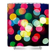 Blurred Christmas Lights Shower Curtain by Elena Elisseeva