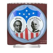BRYAN CAMPAIGN BUTTON Shower Curtain by Granger