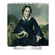 Charlotte Bront� Shower Curtain by Granger