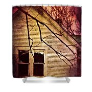 Creepy Abandoned House Shower Curtain by Jill Battaglia