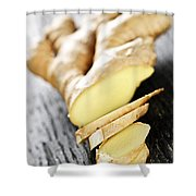 Ginger Root Shower Curtain by Elena Elisseeva