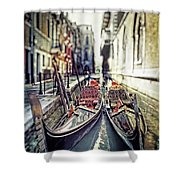 Gondolas Shower Curtain by Joana Kruse