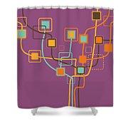 graphic tree pattern Shower Curtain by Setsiri Silapasuwanchai