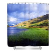 Kylemore Lake, Co Galway, Ireland Lake Shower Curtain by The Irish Image Collection