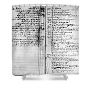 Madison: Account Book Shower Curtain by Granger