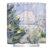 Mont Sainte-victoire Shower Curtain by Paul Cezanne
