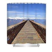 Monte Tamaro Shower Curtain by Joana Kruse