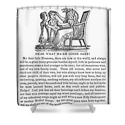 MOTHER GOOSE, 1833 Shower Curtain by Granger