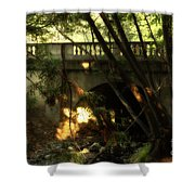 Pedestrian Bridge And Strawberry Creek  . 7d10132 Shower Curtain by Wingsdomain Art and Photography