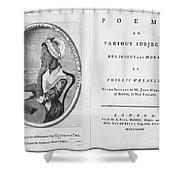 Phillis Wheatley, African-american Poet Shower Curtain by Photo Researchers