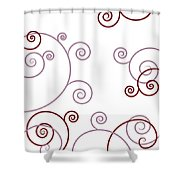 Pink And Red Abstract Shower Curtain by Frank Tschakert