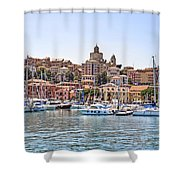 Porto Maurizio - Imperia Shower Curtain by Joana Kruse