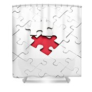 Puzzle Shower Curtain by Joana Kruse
