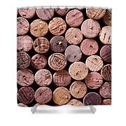 Red Wine Corks Shower Curtain by Frank Tschakert