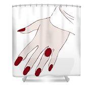 Ring Finger Shower Curtain by Frank Tschakert