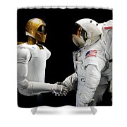 Robonaut 2, A Dexterous, Humanoid Shower Curtain by Stocktrek Images