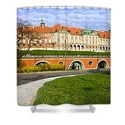 Royal Castle In Warsaw Shower Curtain by Artur Bogacki