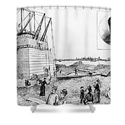 Statue Of Liberty, C1884 Shower Curtain by Granger