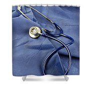 Stethoscope Shower Curtain by Photo Researchers, Inc.