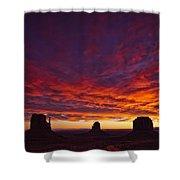 Sunrise Over Monument Valley, Arizona Shower Curtain by Robert Postma