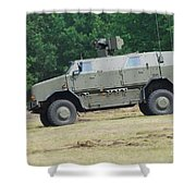 The Dingo 2 In Use By The Belgian Army Shower Curtain by Luc De Jaeger