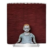The Doll Shower Curtain by Joana Kruse