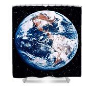 The Earth Shower Curtain by Stocktrek Images