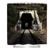 Train Tunnel At The Muir Trestle in Martinez California . 7D10220 Shower Curtain by Wingsdomain Art and Photography